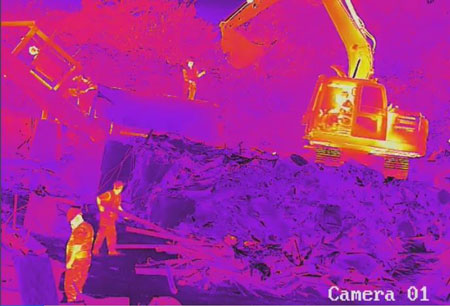 thermal image for fire detection